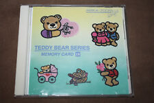 "Janome Memory Craft Embroidery Machine Card ""Teddy Bear Designs"" #18"