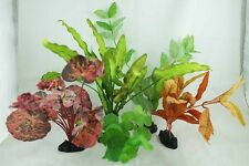 Aquarium Plants for Plastic Tank Silk COMBO A-8