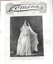Femina n°182 -  1908- Felia Litvinne - Garden Party- Les gants - Trouville -
