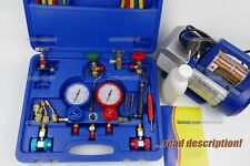 R410a AC Gauge manifold kit R134a R404a R22 Split A/C unit refill recharge tool