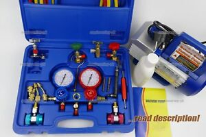R410a AC Gauge manifold kit R134a R32a R410a Split A/C unit refill recharge tool