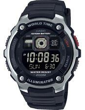 Casio G-Shock World Time Solar 52mm Black Silicone Men's Watch AE-2000W-1BVEF SD