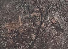 Goblin Puck Spirits Midsummer Night's Dream Arthur Rackham 1908 Tipped-In Print