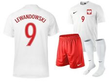 Polska Lewandowski 9 MILIK 7 NAME NIKE POLAND Set Boys Kids Jersey Shorts socks