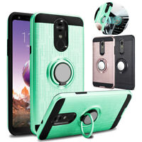 For LG Stylo 4 / 4 Plus/ Q Stylus Case Shockproof Ring Stand Hybrid Phone Cover