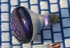 65 WATT R30 incandescent 65w deep PURPLE FLOOD LIGHT BULB BR30 spot 130v 65BR30