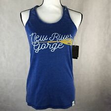 FREE SHIP AOTG Womens Small Adventures on The Gorge New River Paddle Tank Top