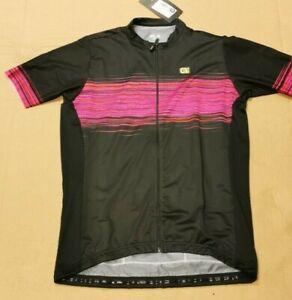 Ale Solid Start Women's Short Sleeve Jersey, Black/Pink, XX-Large. L17347719-06
