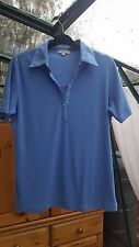 Ladies 'First Avenue' Blue Short Sleeved Top, Collared, Size L (16) Good Con