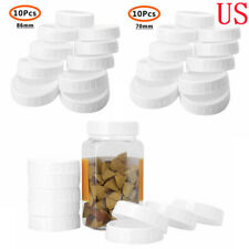 Plastic Standard Screw-on Lids Storage Caps for Regular/Wide Mouth Mason Jars