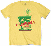 DEAD KENNEDYS Holiday In Cambodia YELLOW T-SHIRT OFFICIAL MERCHANDISE