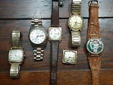 Vintage Watch Lot Accutron(Spaceview) Bulova Hamilton  Seiko All Running!