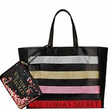 NWT Victoria's Secret Tote Bag Bling Sequin and Pouch 2017 Limited Edition