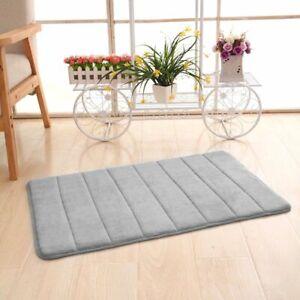 Home Bath Mat Coral Fleece Non Slip Water Absorbent Washable Toilet Floor Carpet