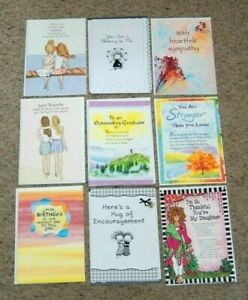 Lot 9 NEW Blue Mountain Arts B-Day Sister Graduation Greeting Cards & Envelopes