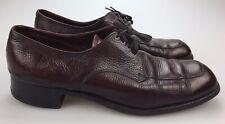 Vintage Florsheim Burgundy Leather Lace Up Apron Toe Oxford Dress Shoes Men 12 B