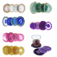Natural Agate Stone Unwrapped Coffice Cup Drink Beverage Barware Coasters Decor