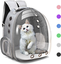 Henkelion Cat Backpack Carrier Bubble Bag, Small Dog Backpack Carrier for Small