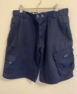 MAC Workwear Navy Blue CARGO SHORTS - Size 34