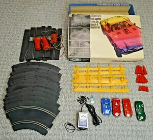 1966 Strombecker #9865-2995 Road America Racing Set 4 Cars 1/32 Scale Very Good