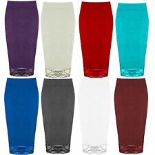 Casual Calf Length Skirts Plus Size for Women
