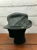 Custom Bee Hats Mens Fedora Hat Size 7 3/8 Wool Gray Vintage Retro Unique Classy