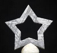 LG Muonionalusta Iron Meteorite ETCHED SLICE WIDMANSTATTEN Star Jewelry Pendant