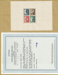 Deutsches Reich DR 1930 Block 1 IPOSTA postfrisch, Foto-Attest, Mi. 1.600 € BPP