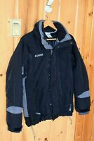 Columbia Core Mens Winter Parka Jacket Coat (Size M Medium) Black/Gray w/Liner