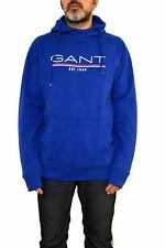 BNWT GANT Sweatshirt Hoodie Jumper Top Jumper Sweat Royal Blue Logo  L/XL /XXL