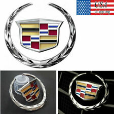 Chrome Cadillac Logo 3D Front Grille Rear Trunk Lid Emblem for XTS CTS Escalade
