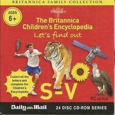 BRITANNICA CHILDRENS ENCYCLOPEDIA S-V - MAIL PROMO PC CD