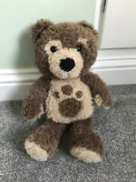 """Little CHARLEY BEAR Large Brown Cuddly Soft Toy Comforter 16"""" Vivid CBeebies"""