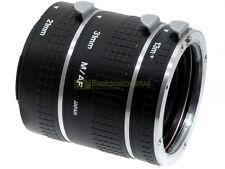 Kit 3 anelli x riprese Macro 13-21-31mm. Per Minolta AF/Sony A-mount