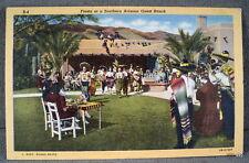 VTG Fiesta at Southern Arizona Guest Ranch RPPC Real Photo Linen Music Mariachi