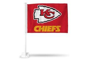 Kansas City Chiefs 11X14 Window Mount 2-Sided Car Flag