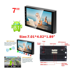 """Android 8.1 7"""" 2Din Touch Quad Core Car Stereo MP5 Player GPS Navi Radio Plastic"""