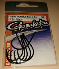 Gamakatsu 265414 Size 4/0 Saltwater Inline Octopus Circle SE Fishing Hooks Qty 6