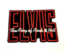 Elvis The King Of Rock Logo Iron On Sew On Embroidered Patch Badge