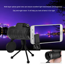 Monocular 40X60 Zoom Dual Optical HD Lens Telescope For Mobile Phone W/Tripod