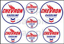 1 1/2 3/4 INCH CHEVRON GASOLINE GAS STATION BUILDING SIGN DECALS STICKERS