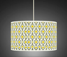30cm Yellow Mustard Grey Retro Handmade fabric lampshade pendant light Shade 461