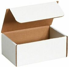 50 - 6 x 3 x 3 White Corrugated Shipping Mailer Packing Box Boxes
