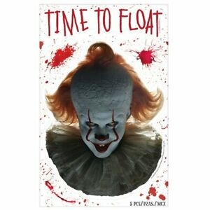 Official IT Pennywise Scary Halloween Window Stickers Party Decoration