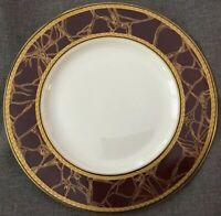 "Villeroy & and Boch Heinrich EMPRESS Dinner Plate~10.5""~Heavy Gold~Maroon~German"