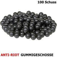 Anti-Riot Gummigeschosse / Abwehrgeschosse Cal. 68 - 100 Schuss