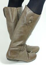 450 Stiefel Damenstiefel Damen Leder Zipper Braun Knopf Boots Ladies Bronx 40