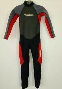 XCEL women's Wetsuit Neoprene & Nylon Gray Red Zip Hawaii sz 12