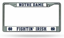 Notre Dame Fighting Irish Plate Chrome Licence Plate Tag Frame for Car/Auto