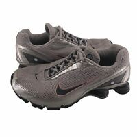 Nike Shox Womens Size 8 Gray Pink Black Lace Up Running Athletic Sneakers